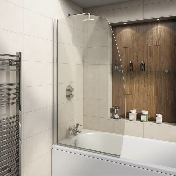 Add some style to your shower bath with this beautifully designed Sail Bath Screen.Featuring 6mm safety glass and reaching a height of 1440mm, the frameless edges are curved to resemble a boat sail - perfect for nautical style bathrooms and contemporary designs alike.It's a high quality product that comes with a 10 year guarantee as standard.