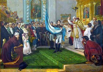 Vino y girasoles...: Manuel Belgrano, creo la bandera argentina con los...