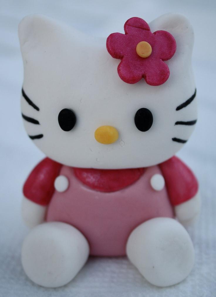 Pink Hello Kitty Inspired Fondant Cake/Cupcake Topper.