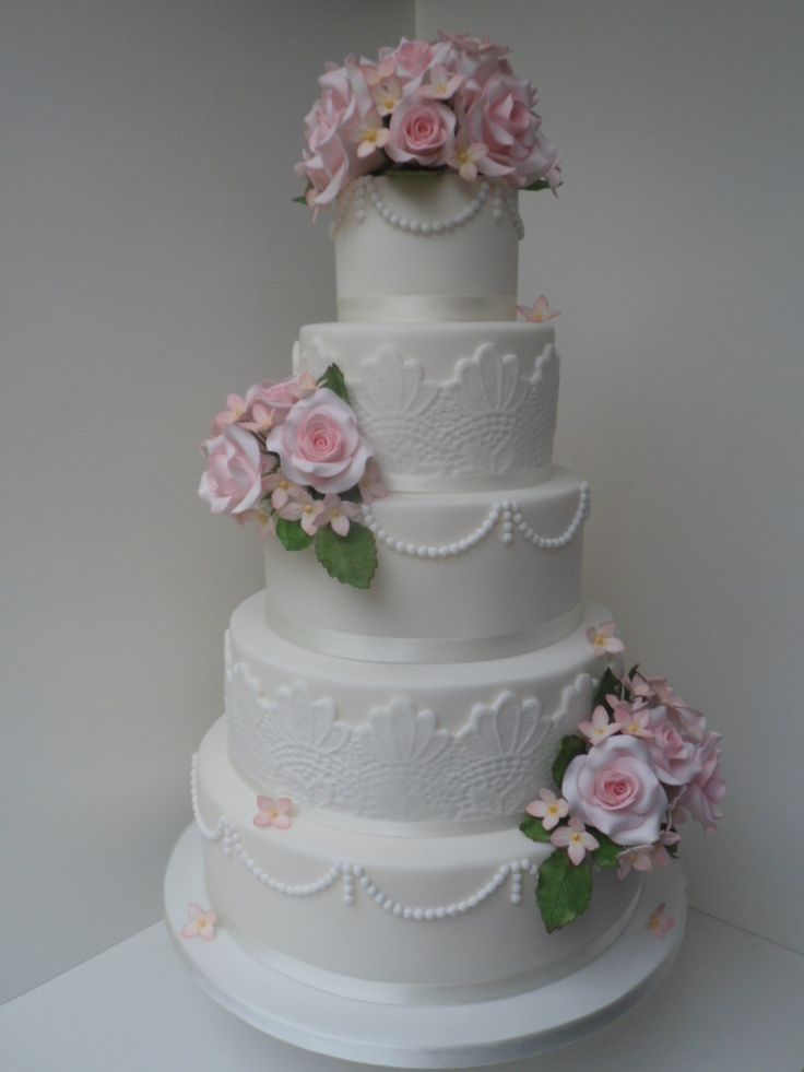4 tier wedding cake with sugar flowers 68 best wedding cakes images on 3 tier wedding 10425