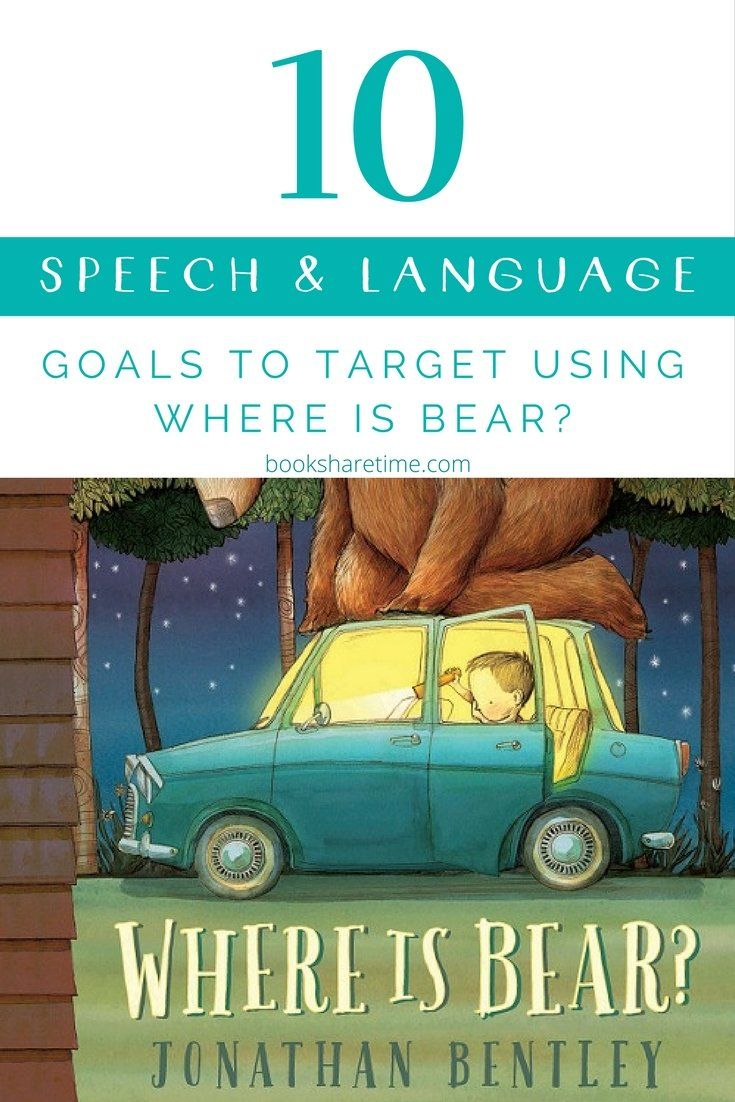 Check out the speech and language targets that can be targetted in speech therapy using this gorgeous picture book: Where is Bear? by Jonathan Bentley. #childrensbooks #picturebooks #speechtherapy