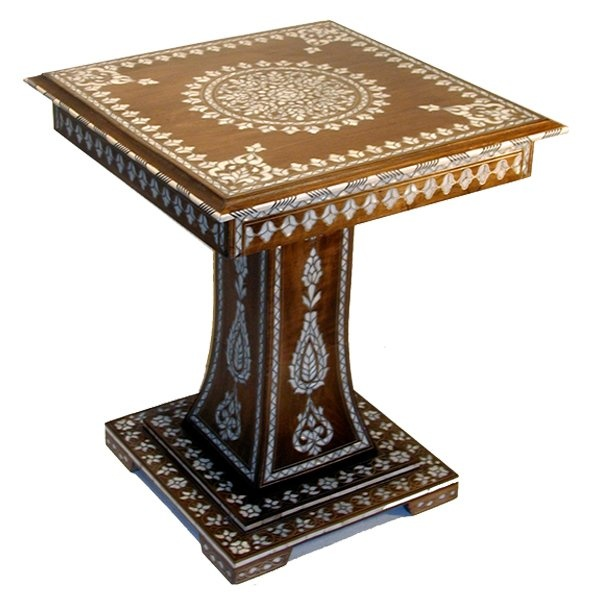 Moroccan French Mother Of Pearl Table