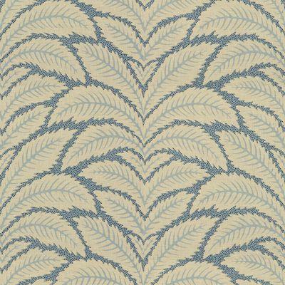 Talavera Cotton And Linen Print B - Lue  curtains Brunschwig.com