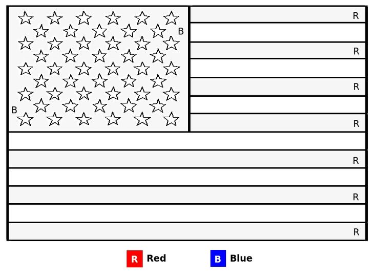 Gallery For gt 4th Of July Flag Coloring Page