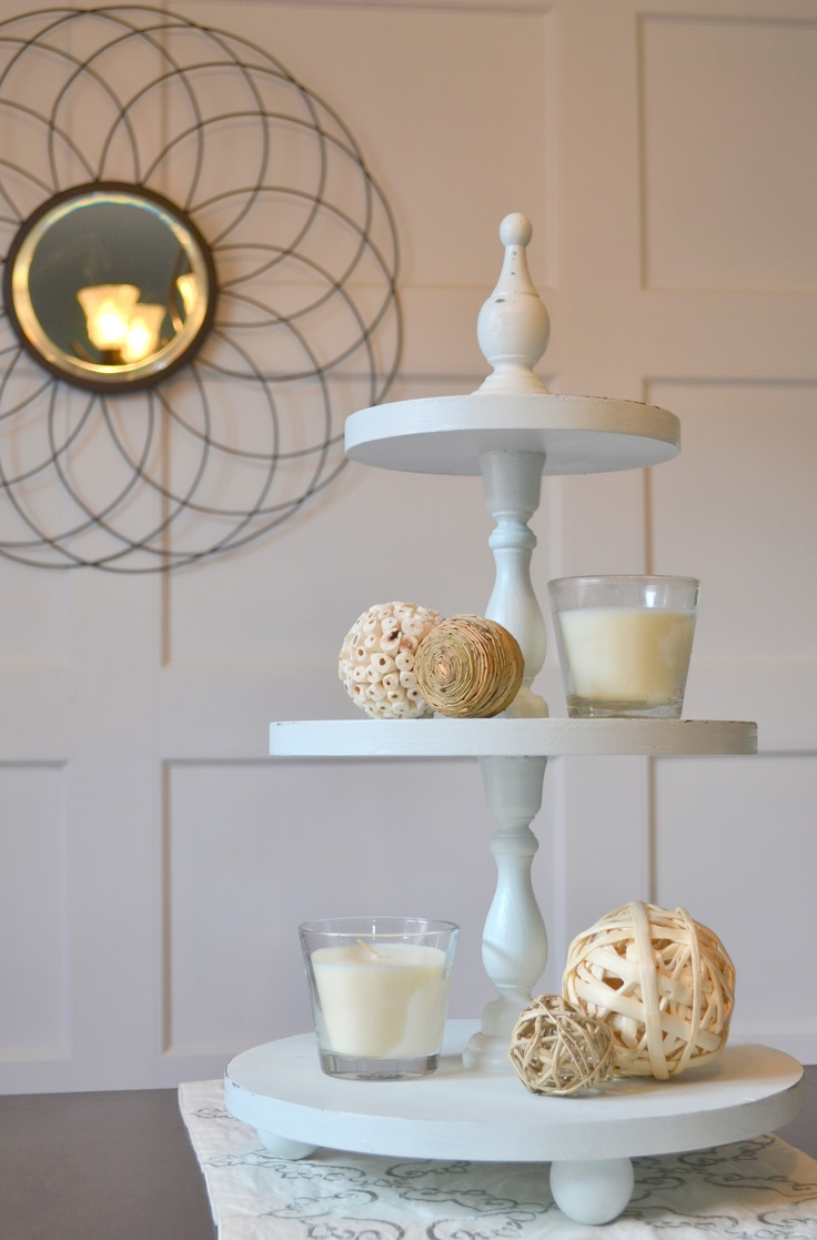 Homemade Tiered Cake Stand