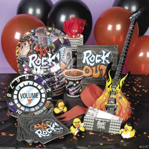 Popular Party Themes For Teenage Boys Rock Star Birthday
