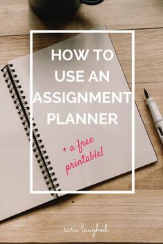 Put together an assignment planning sheet to get organized and focused! Great tool for college students