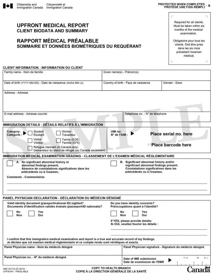 Medical Report Form Report Template Psychology Research Medical