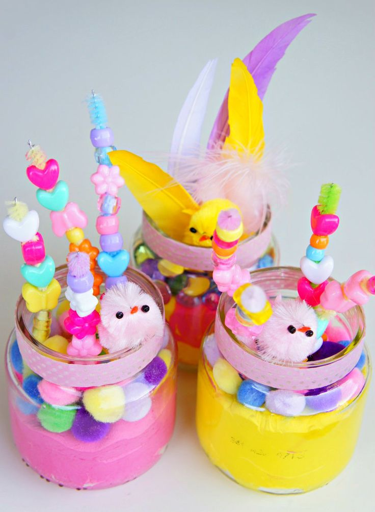 Crafts Recycled Baby Food Jars