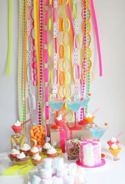 DIY Neon party decor