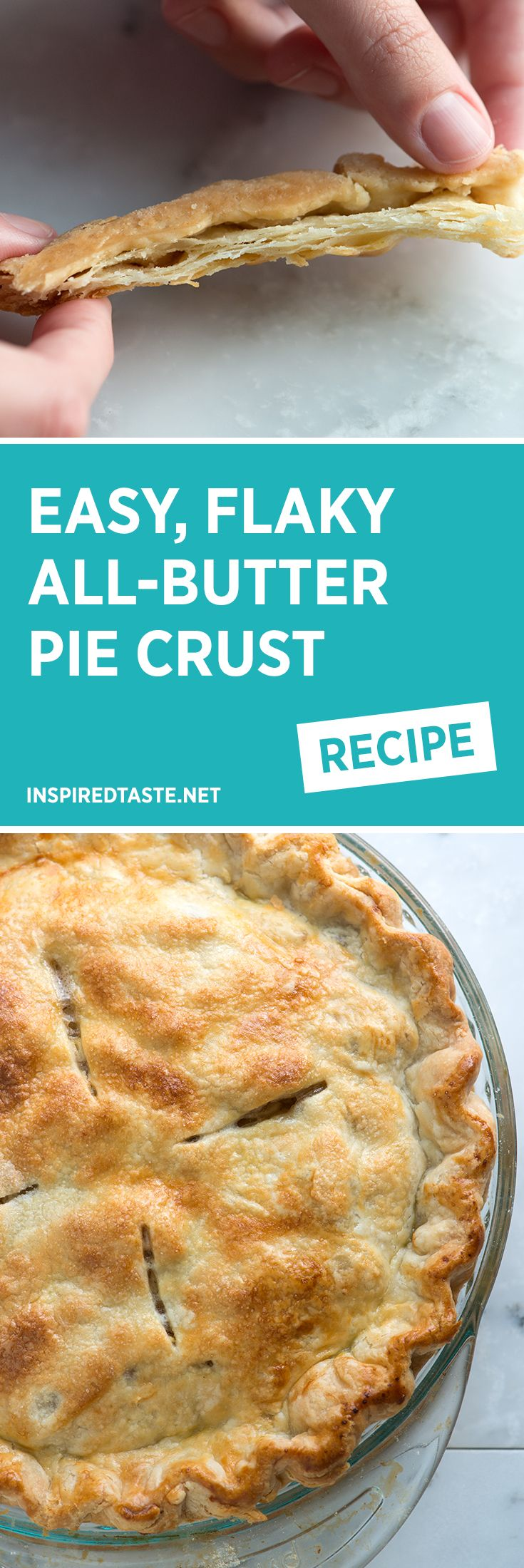 How to make our easy butter pie crust recipe that makes consistent flaky pie dough every time.