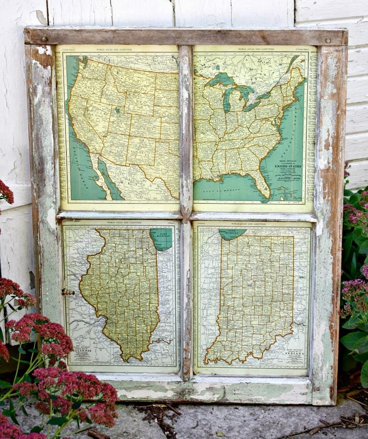 Best Decorating With Maps Images On Pinterest Wall Maps - Us vintage map with dowel