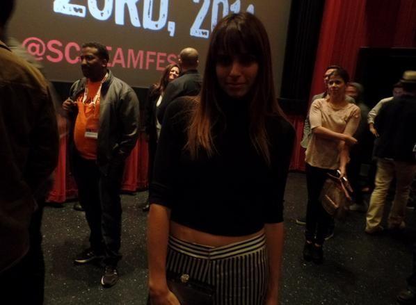 Ashley C. Williams at Julia premiere Screamfest 2014