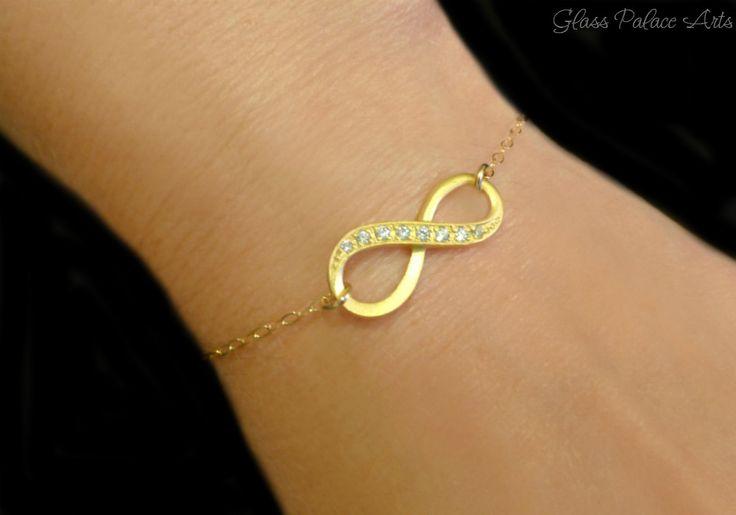 Infinity Bracelet - Eternity Bracelet with Cubic Zirconia
