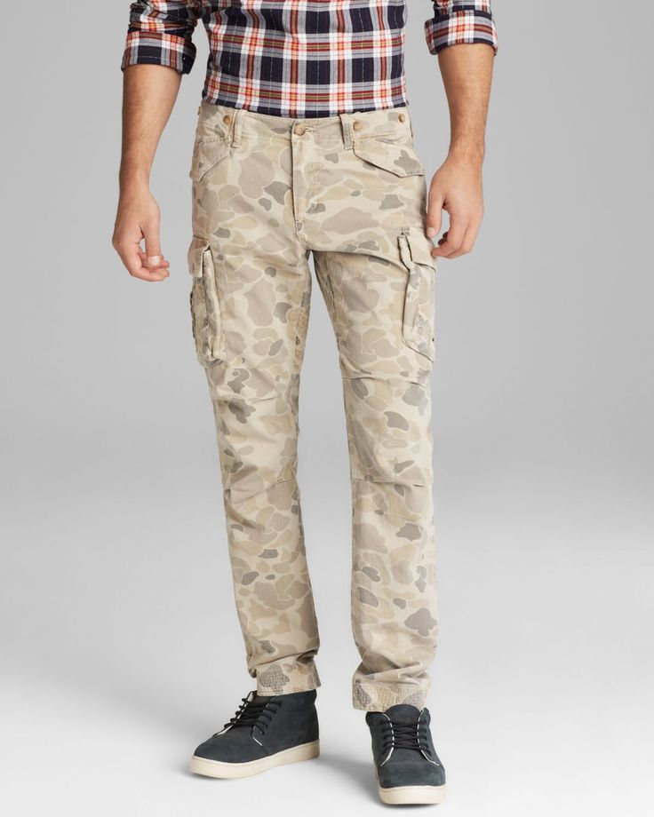 Men's Natural Perfect Camo Cargo Pants - Slim Fit | Slim ...
