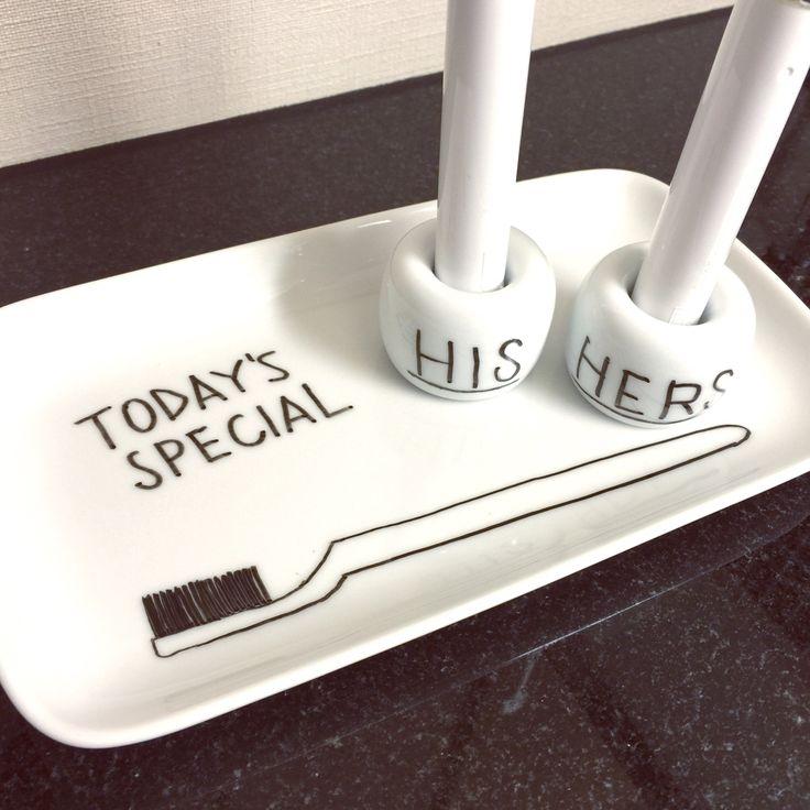歯ブラシスタンドのインテリア実例 | RoomClip (ルームクリップ) 無印良品の磁器歯ブラシスタンド