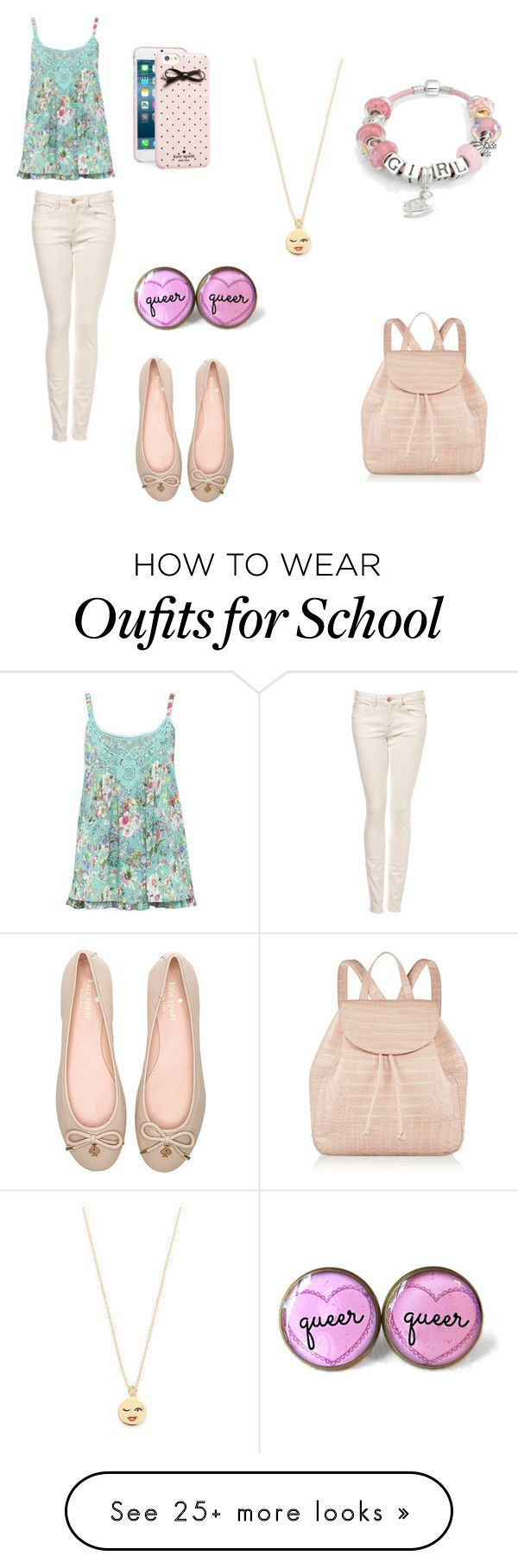 """Time for school"" by bibijag on Polyvore featuring M&Co, Kate Spade, Nancy Gonzalez and Bling Jewelry"
