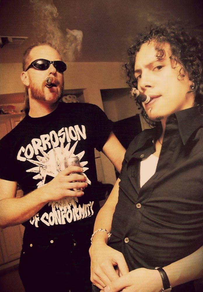 Thierry et ses cigares: Kirk Hammett et James Hetfield ... du groupe Metal...