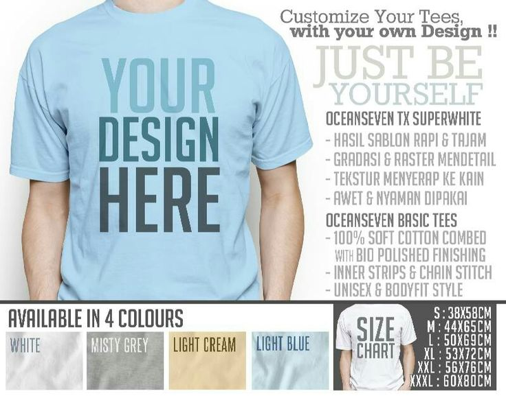 Your design here!!! U can made ur own design - customize tees - only 100.000 rupiah - contact us at osvn.us/59291 or ID line : ninda-tshirtcorner