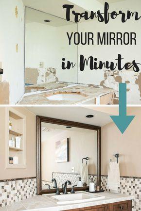 How to Create a Custom Framed Mirror in Minutes Bathroom Ideas