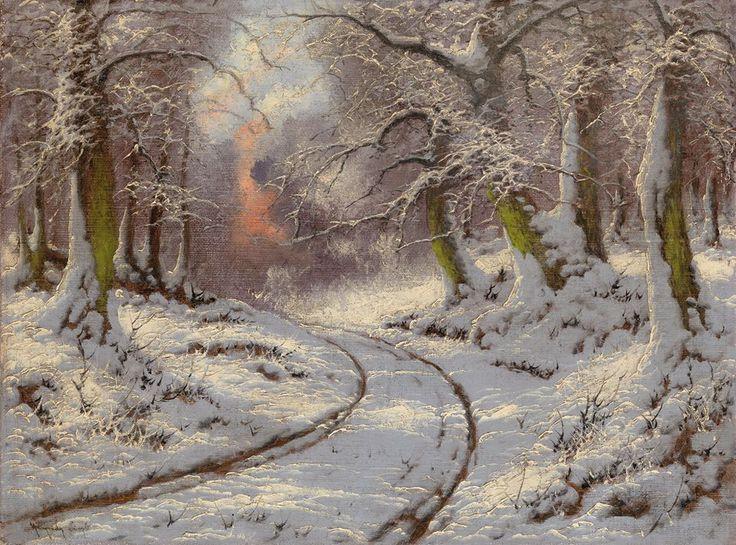 "https://www.facebook.com/MiaFeigelson ""Deep midwinter"" By Laszlo Neogrady, from Budapest, Hungary (1896 - 1962) - oil on canvas; 60.93 x 80.01 cm; 24 x 31 1/2 in - © Burlington Paintings, London, UK £5,000 - £10,000 http://www.burlington.co.uk/"