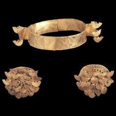 Diadem Gold A.D. 600 - A.D. 1600 Sogamoso, Boyacá 6,5 x 22,8 cm Colombia