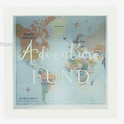Glass Money Box Holzplatte Shadow Frame Einsparungen Coin Bank Geschenk Memory Travel …   – DIY