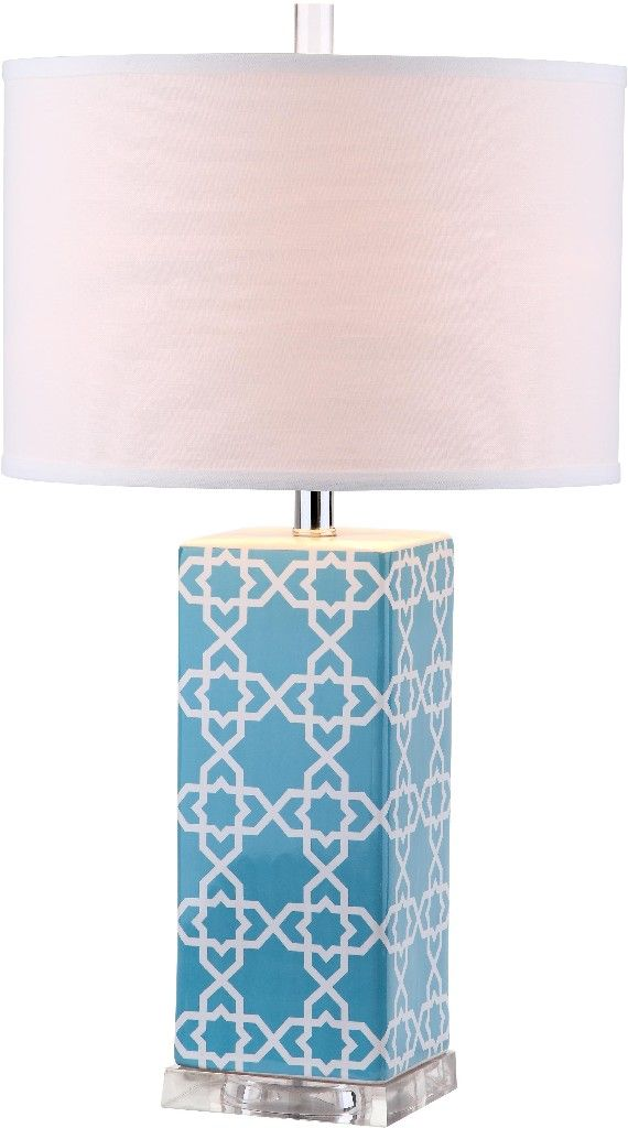 Quatrefoil 27 Inch H Table Lamp Safavieh LITS4133B (With