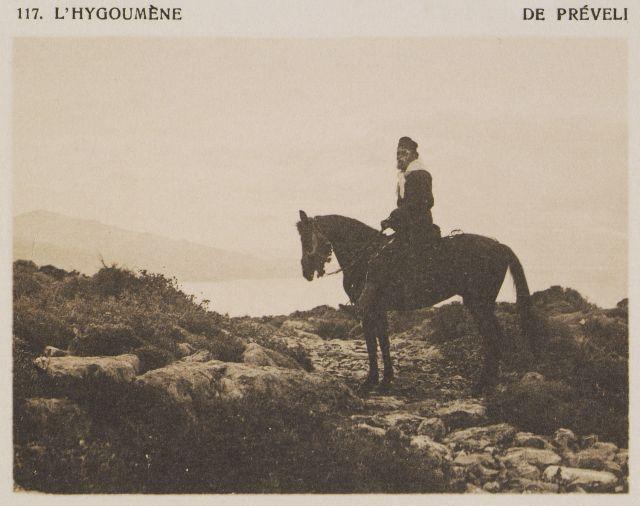 Ο Ηγούμενος της Μονής Πρεβέλης. Πρωτότυπος τίτλος L'Hygoumène de Préveli. Χρονολογία έκδοσης 1919 Έκδοση BAUD-BOVY, Daniel, BOISSONNAS, Frédéric. Des Cyclades en Crète au gré du vent, Γενεύη, Boissonnas & Co, 1919. http://www.laskaridou.gr/