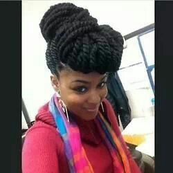 marley twists updo hairstyles - Google Search
