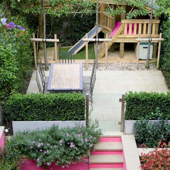 Small garden ideas for kids images for Children friendly garden designs