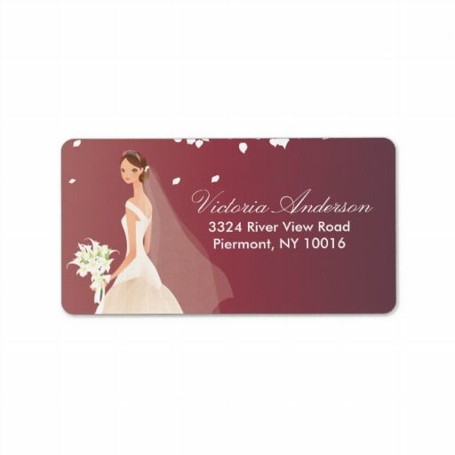Beautiful Bride Return Address Labels.
