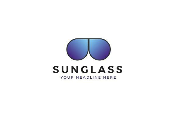 Sunglass Store Logo Template by PixaSquare on @creativemarket #logo #design #inspiration #branding #ideas #brand #modern #simple #clean #monogram