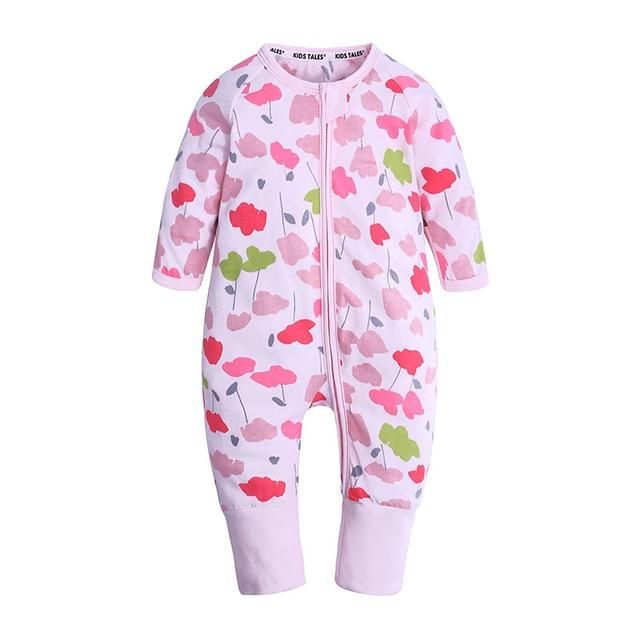 620c61804 Newborn Baby Rompers Little Boys Girls Clothing Long Sleeved Jumpsuit  Cartoon Animal Print Clothes for 0-24M