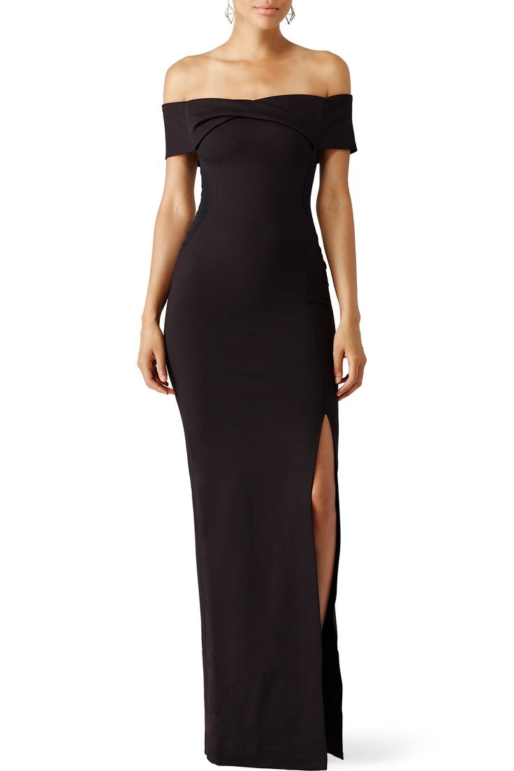 Rent Black Knot Front Gown by Nicholas for $100 only at Rent the Runway.