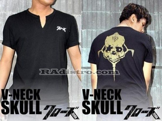 Sedia+Jual V-Neck Genji Skull KODE: V-Neck Skull, -->> Online   --->>, Murah, Keren, Kece, Berkualitas Loh gan :D  --->> Minat?? HUB CS : 087839697949