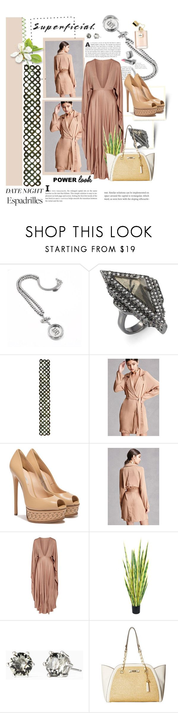 """superficial!!"" by marleen1978 ❤ liked on Polyvore featuring Alexis Bittar, Sizzix, Forever 21, Casadei, Valentino, Stella & Dot, Jessica Simpson, Burberry, Summer and DateNight"