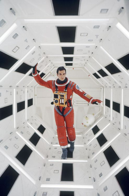Keir Dullea on the set of  2001 A Space Odyssey