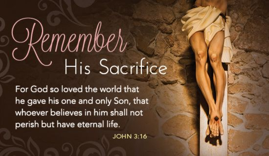 Free Remember Sacrifice eCard - eMail Free Personalized Easter Cards Online