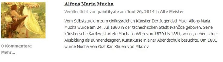 Die Biografie von Alfons Maria Mucha auf dem paintify Blog. Reproduktions-Gemälde von Alfons Mucha Werken gibt es auf:  https://www.paintify.de/de/kunstmarkt/alte-meister/alfons-maria-mucha  #paintify #Biografie #Alfons_Maria_Mucha #Alfons #Mucha #Gemälde #Kunst #Reproduktionen #Reproduktion #Ölgemälde