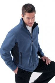 Promotional Products Ideas That Work: Men's fleece bonded to brushed mesh full-zip jacket. Get yours at www.luscangroup.com