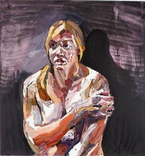 Captain Kate Porter, after Afghanistan, 2012, oil on linen, 180 x 170 cm, collection of the artist, OL00628.017
