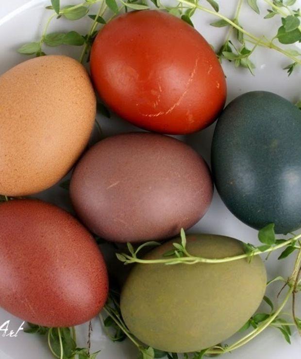 Jajka barwione naturalnie - Na zimno