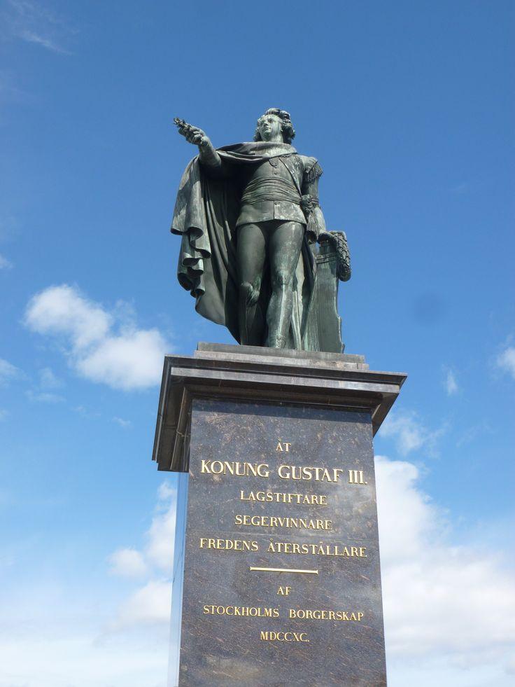 King Gustav III Statue