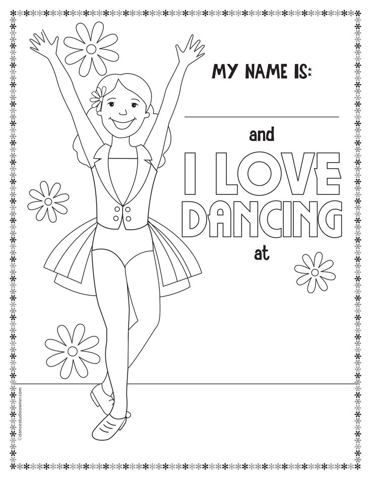 get free printable dance coloring pages