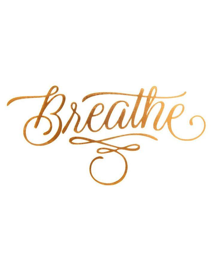 Temporary Tattoos: Breathe