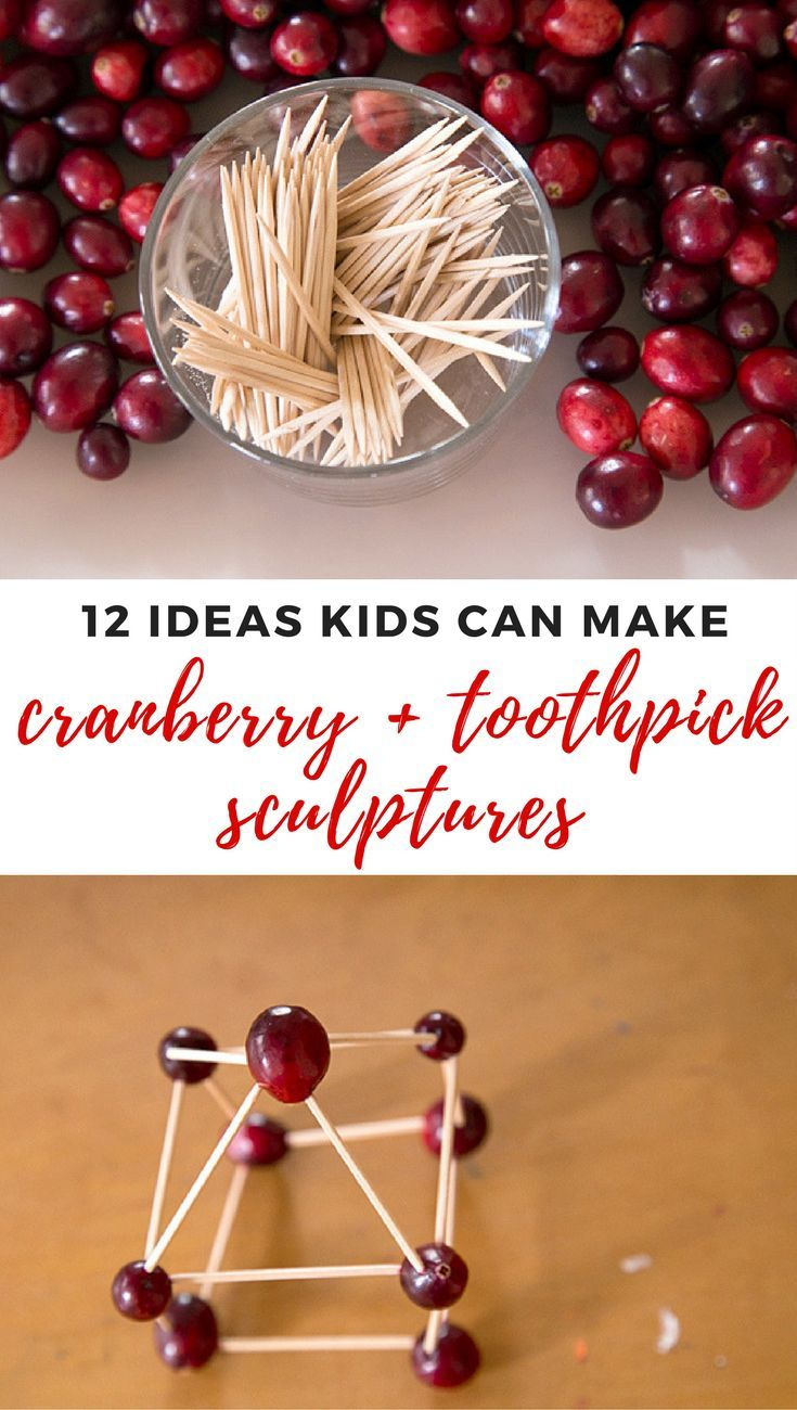 Cranberry and toothpick sculptures are a fun and easy construction project for kids. Try these 12 building ideas this holiday season for a festive activity!