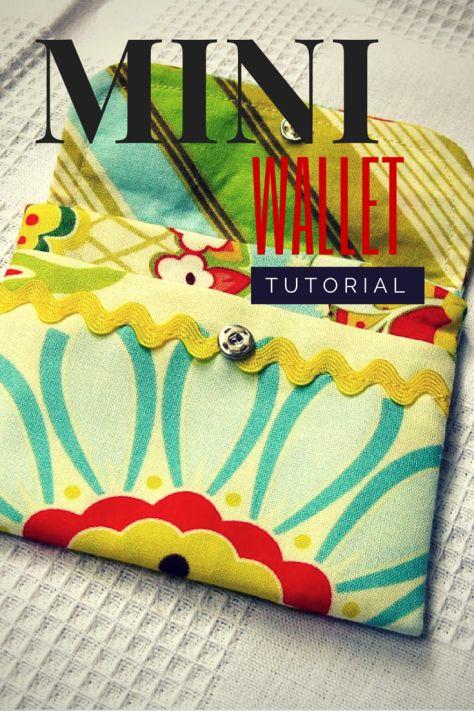 Mini wallet tutorial - easy project - free pattern