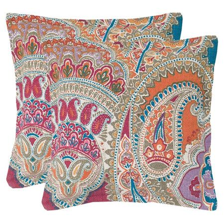 Paisley-print cotton pillows.   Product: PillowConstruction Material: Cotton cover and polyester fill...