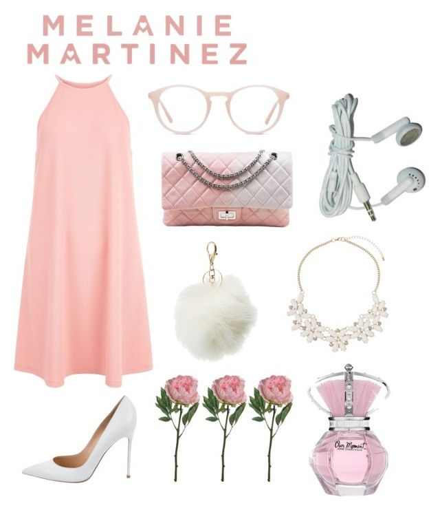 pink and white by romanaroundski1 on Polyvore featuring polyvore fashion style New Look Gianvito Rossi Chanel Dorothy Perkins Charlotte Russe Ace clothing